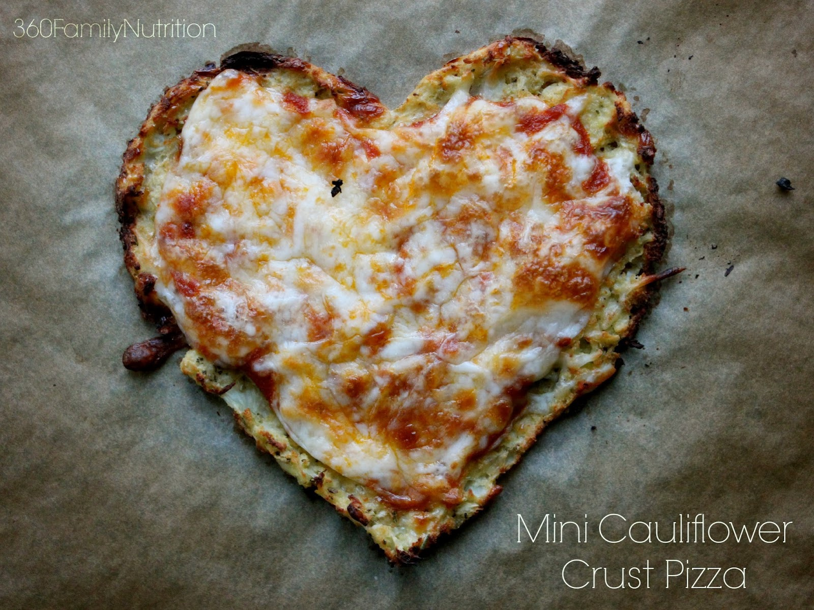 360FamilyNutrition: Mini Cauliflower Crust Pizza