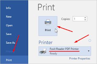 print dalam format pdf