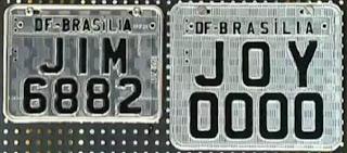 Modelo novas placas refletivas de motos