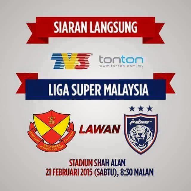 Live Streaming Selangor Vs JDT 21 Februari 2015