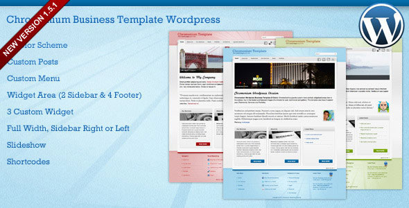 Chromonium - Business WordPress Theme Free Download by ThemeForest.