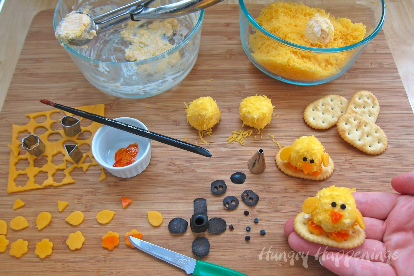 Easter appetizers baby chick cheese balls are so cute get festive this easter and make these adorable easter appetizers baby chick cheese balls forumfinder Gallery