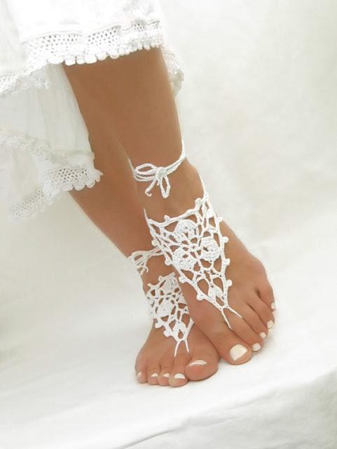 sandalias para novia boda en la playa - bodas: vestidos maquillajes