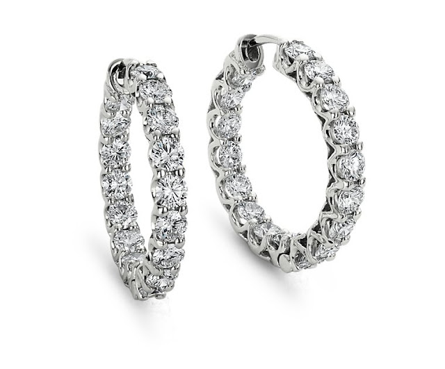 1 ct diamond earrings actual size