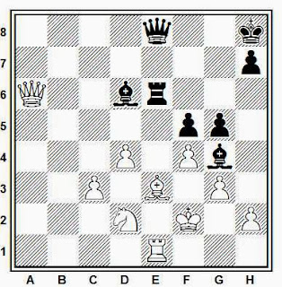 Posición de la partida de ajedrez Pereleniuk - Danzev (Correspondencia, 1986)