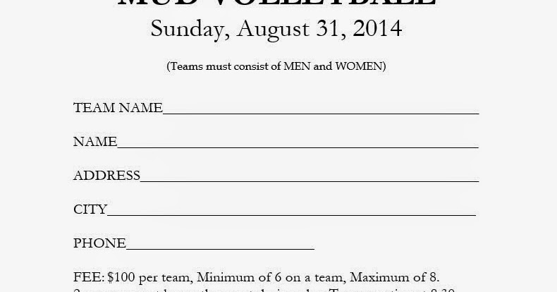 the candlewick view mud volleyball sign up sheet