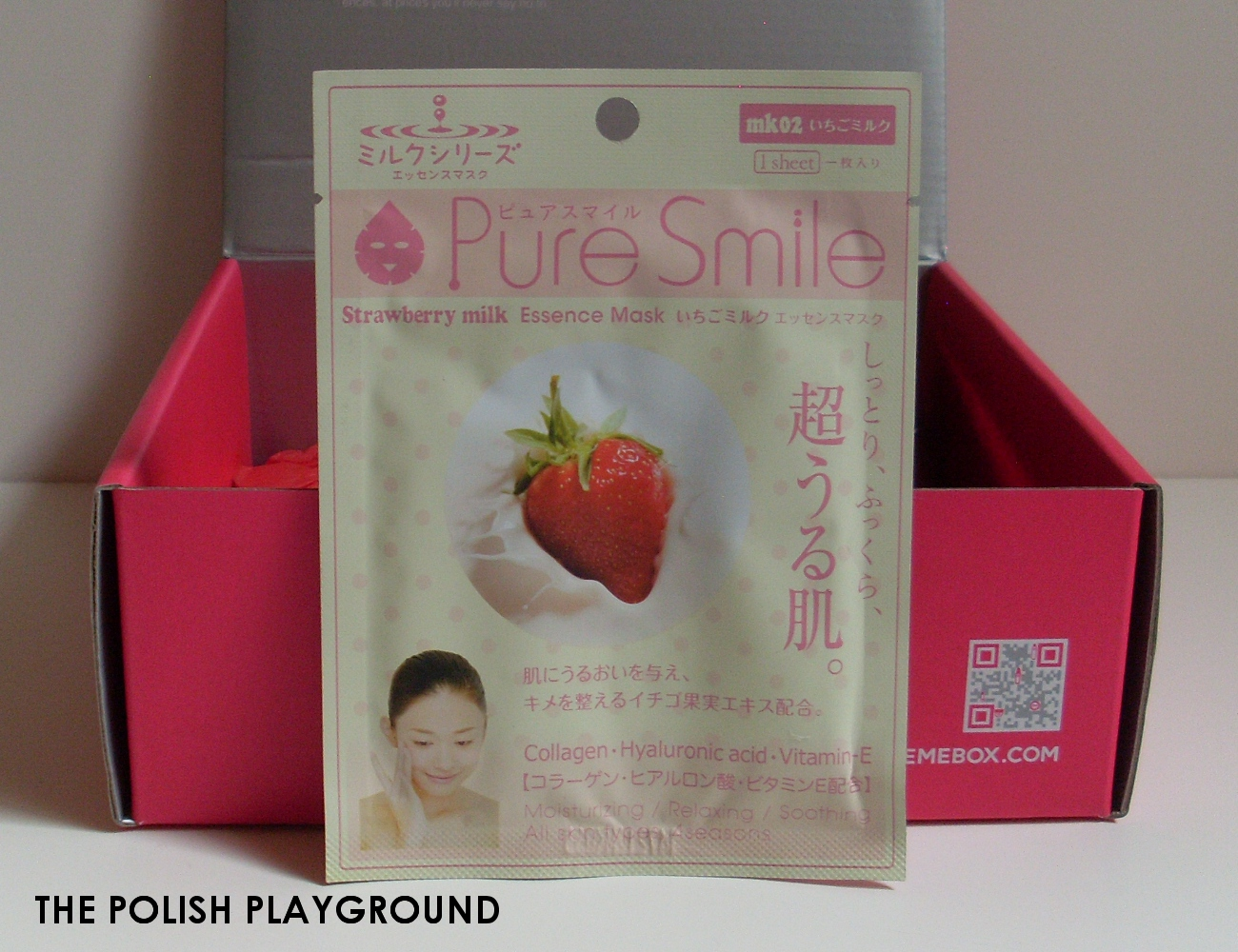 Memebox Special #20 Superfood Unboxing - Pure Smile Strawberry Milk Essence