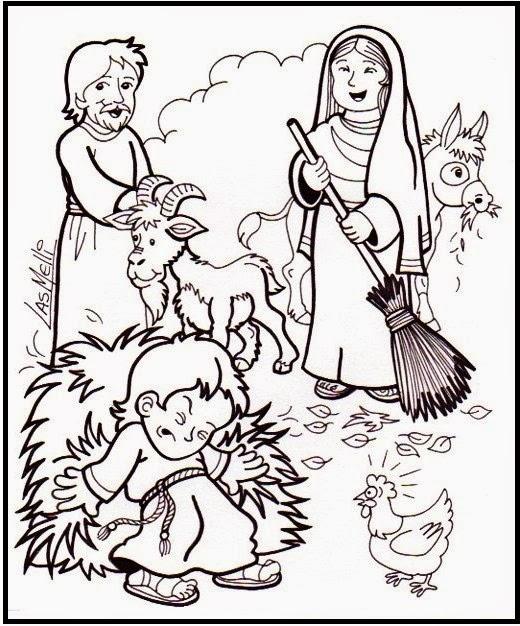 El Rincón de las Melli: Infancia de Jesús: Ayudando en casa