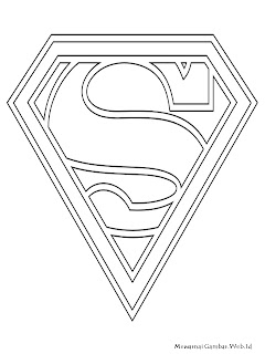 Gambar Logo Superman Untuk Diwarnai