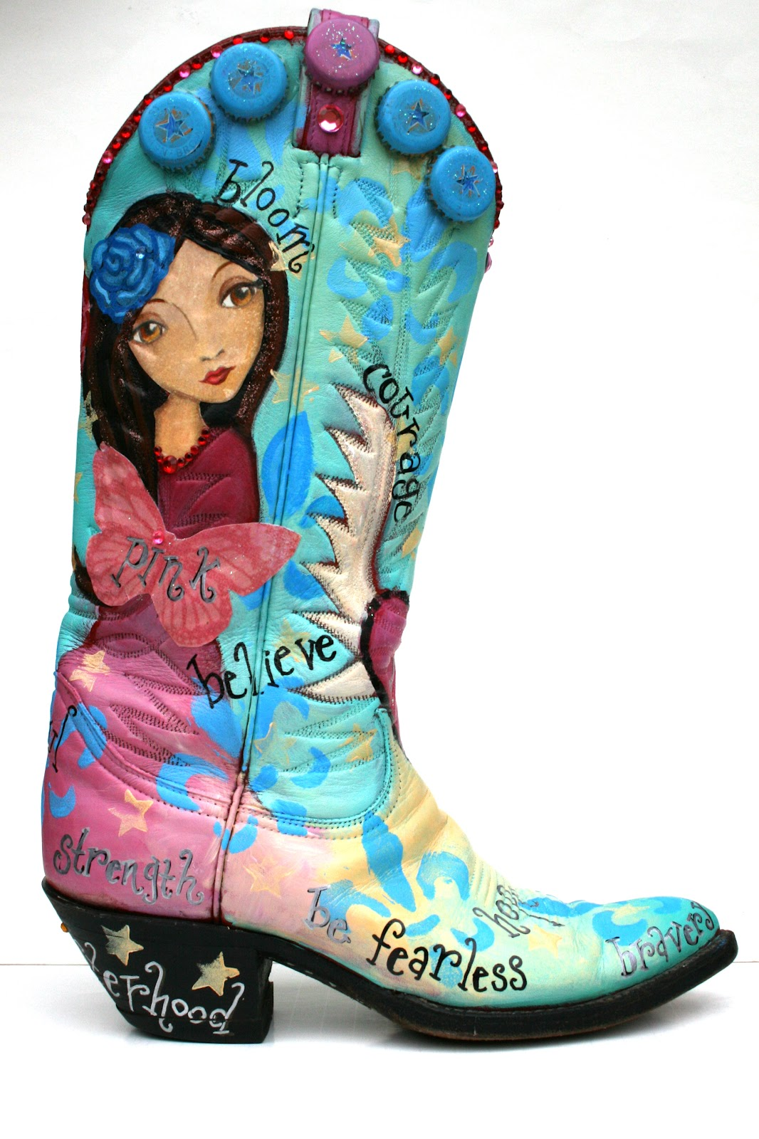 Boot Art To Help Stomp Out Breast Cancer