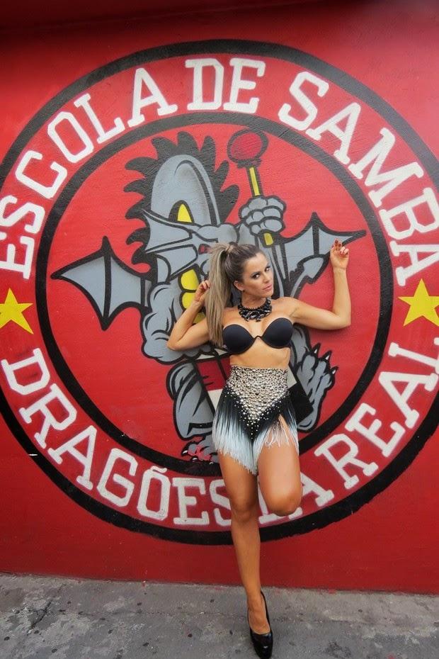 Tânia Oliveira nova madrinha da escola de samba Dragões da Real