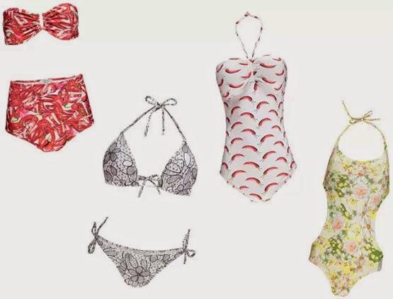 Isolda verão 2015 coleção Rouge maiôs e biquínis