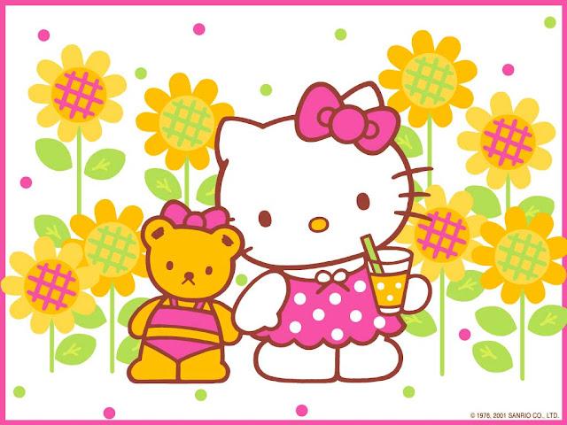 Gambar Hello Kitty Untuk Diwarnai | Deloiz
