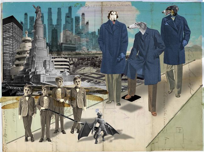 Franz Falckenhaus. Collage Art