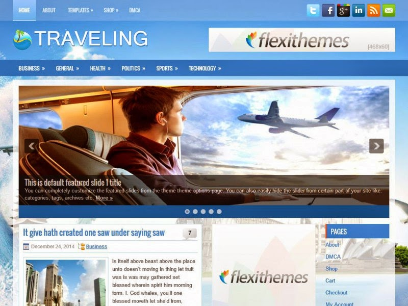 Traveling - Free Wordpress Theme