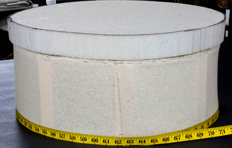 how to make a round ottoman