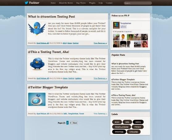 Twitter Blogger Template