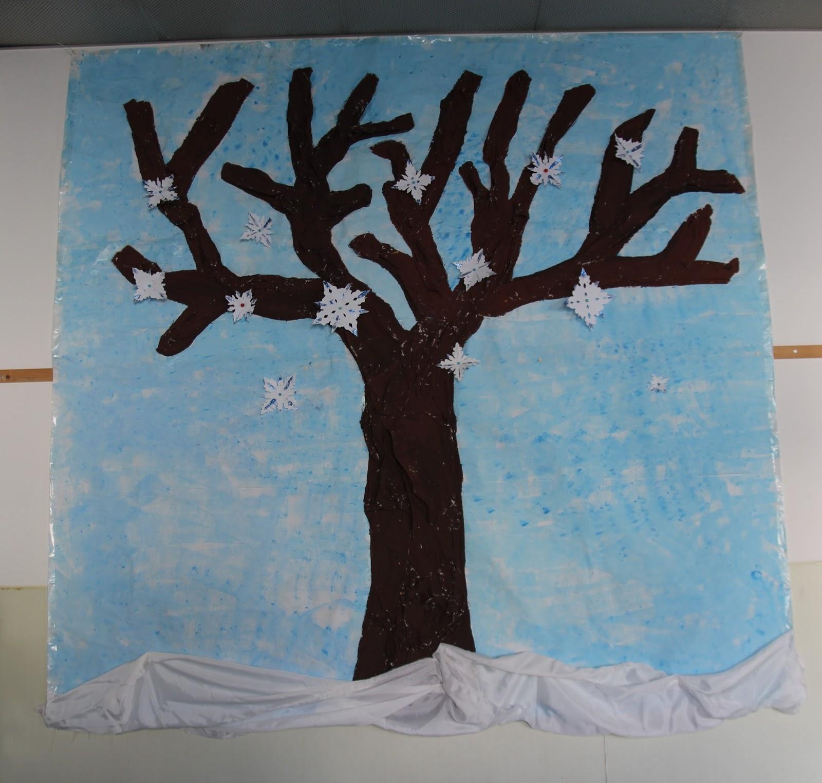 L 39 albero invernale scuola dell 39 infanzia piaget - Immagini da colorare la neve ...