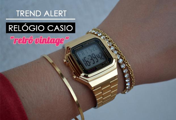 385ca879565 Desafio da Moda  Relógio Casio Vintage