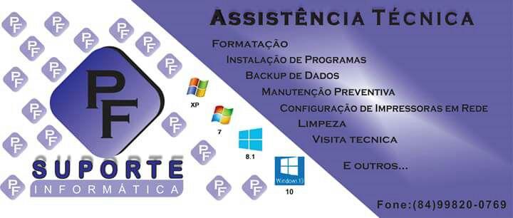 Assistência Técnica (PF - SUPORTE INFORMÁTICA)  Aqui Clique na Foto para abri a pagina