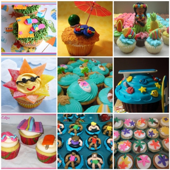 Summer Cupcake Decorating Ideas | Dream House Experience