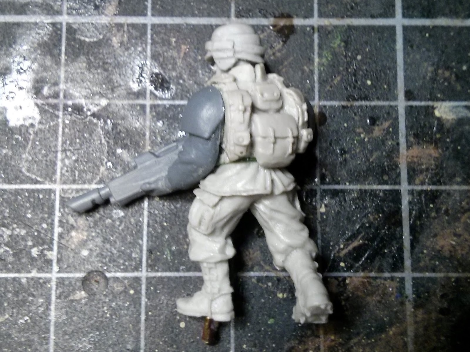 Imperial Guard, Cadian, Maxmini, Combat Armour, Victoria Miniatures, Arcadian, Conversion