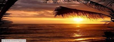 Couverture facebook mer et coucher de soleil