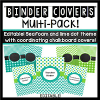 http://www.teacherspayteachers.com/Product/Teacher-Binder-Covers-Editable-Seafoam-and-Lime-Dots-and-Chevron-Theme-733783
