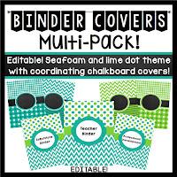 http://www.teacherspayteachers.com/Product/Teacher-Binder-Covers-Editable-Seafoam-and-Lime-Dots-and-Chevron-Theme-733783