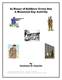 Middle and High School ELA Lesson Plans- Memorial and Veteran's Day Activity