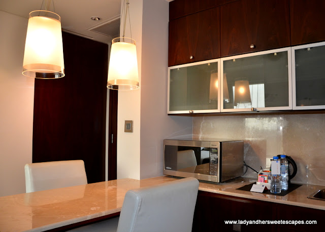 compact kitchenette at Centro Sharjah hotel