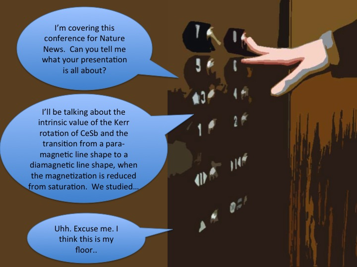 elevator speech communication Every consultant should have an elevator speech in his or her communication toolkit an elevator speech is a mini-speech you can deliver in the time it takes to ride.