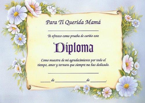 Diplomas para mama para imprimir
