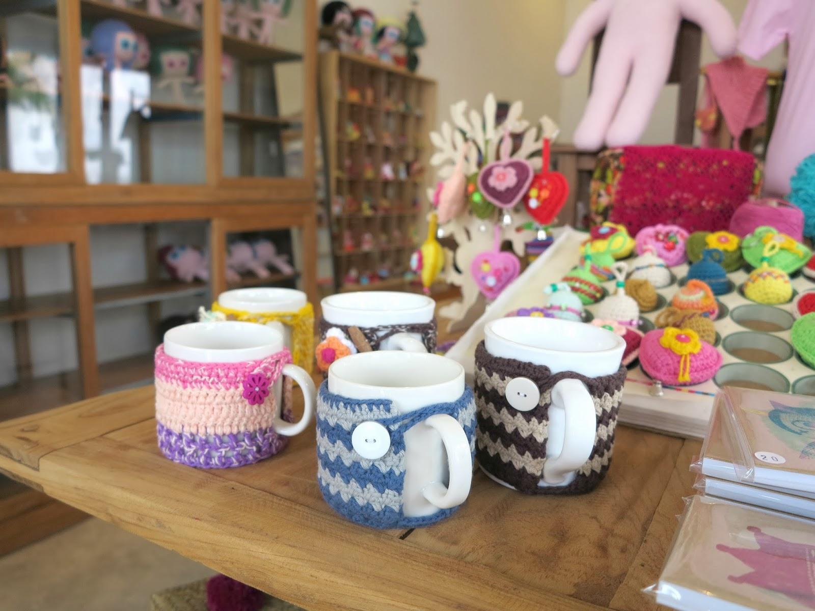 ByHaafner, crochet shop, Bantaktor, Chiang Mai, crochet mugs