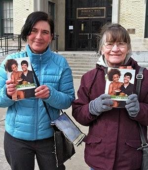 Linda Otoole and Dally Hudson at CMU