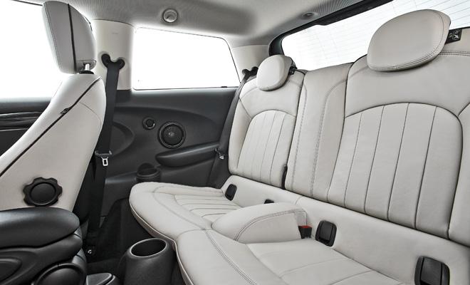2014 Mini Cooper rear seats