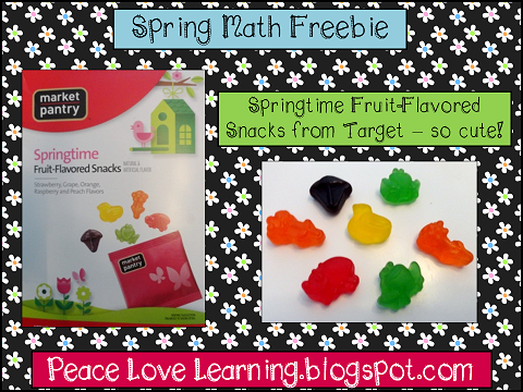 Spring Math Freebie from Peace, Love and Learning