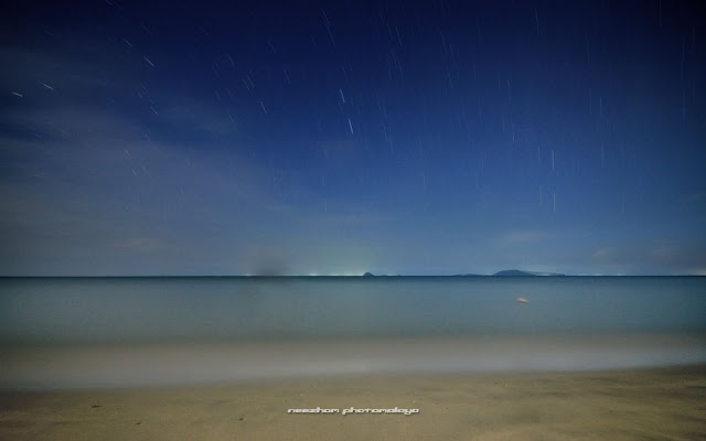 Pantai Bisikan Bayu and star trails