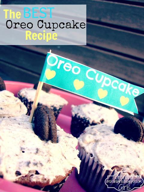 Orchard Girls-Oreo Cupcake Recipe