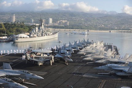 NIMITZ STRIKE GROUP VISITS PEARL HARBOR