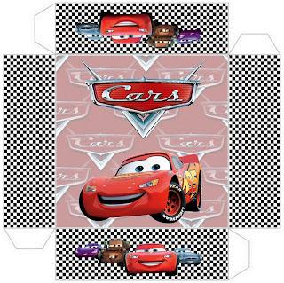 cajita-invitación de Cars