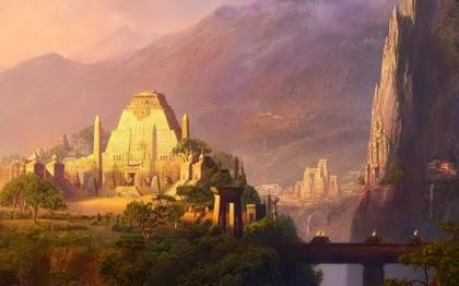Aztec temple picture