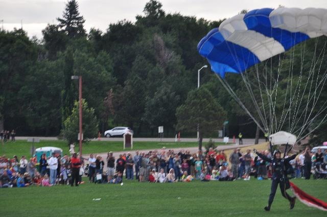 parachutes parachutists US Air Force Academy Labor Day visitingcoloradosprings.filminspector.com
