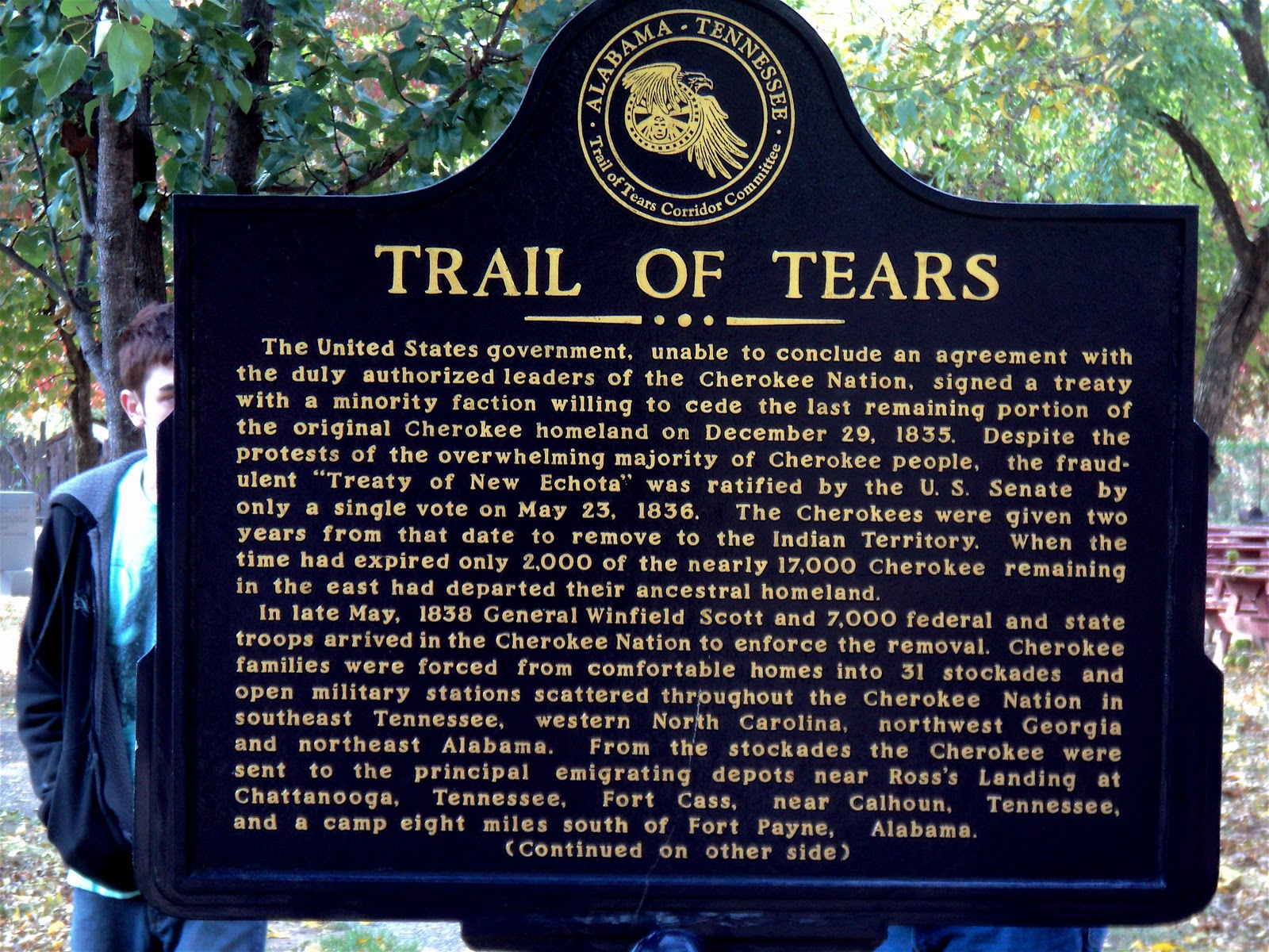 the cherokee peoples' trail of tears The cherokee are probably the most tragic instance of what could have succeeded in american indian policy and didn't all these things that americans would proudly see as the hallmarks of civilization are going to the west by indian people.
