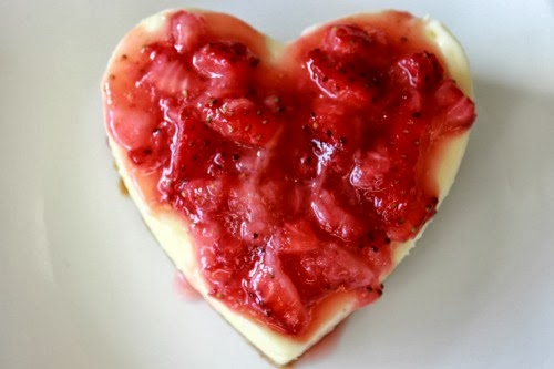 Heart cheesecake Individual Cheesecake Hearts Recipe