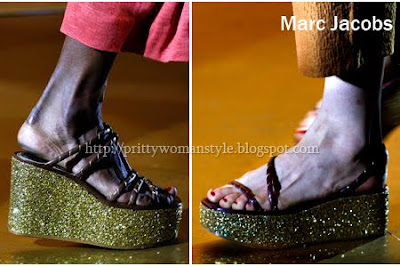 вечерни обувки на платформа