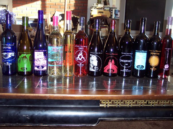 Red wine, white wine, and Rose I got from Inspire Moore Winery in Naples, NY
