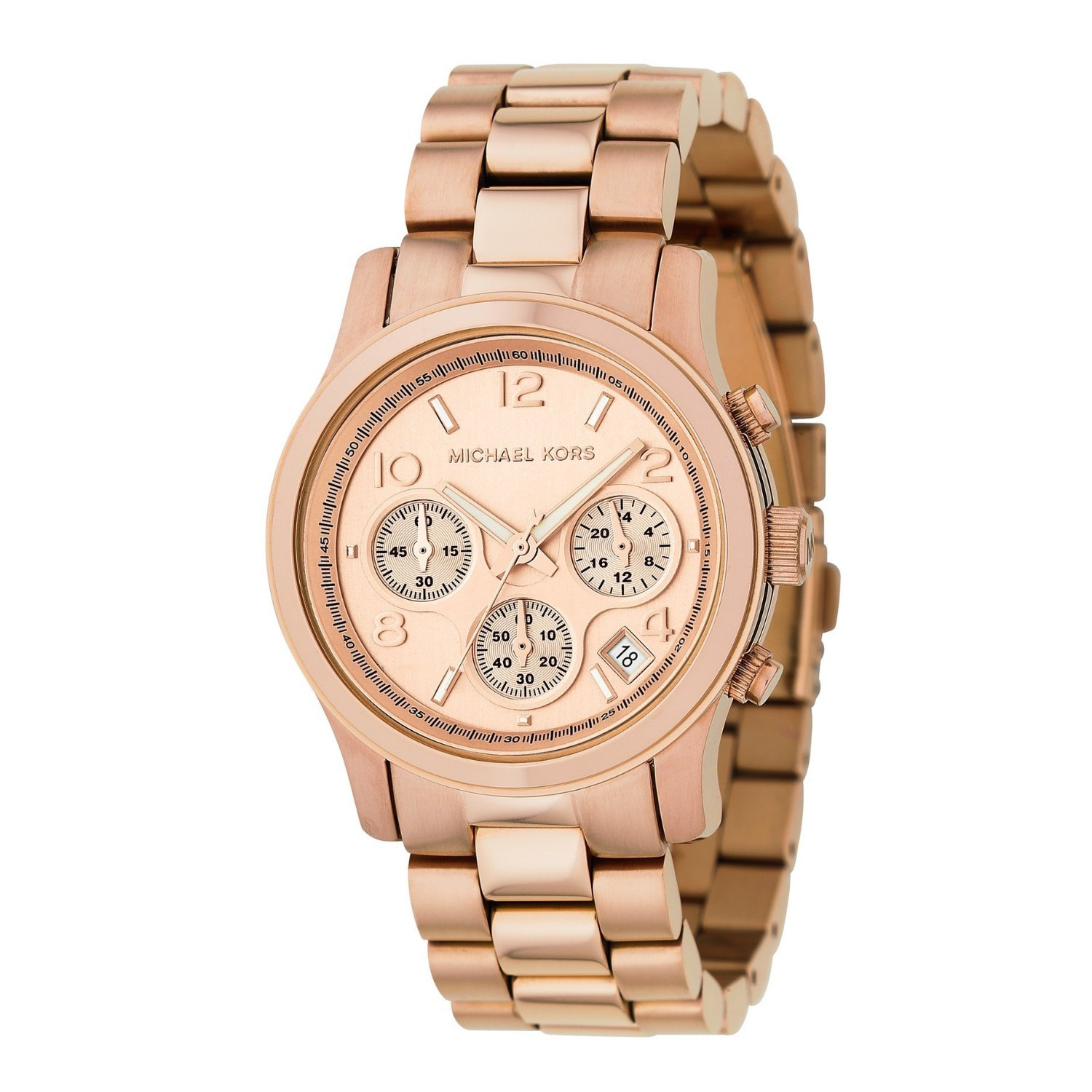 Watches Women Rose Gold Plated Bracelet MK5128 :: GOLD DIAMOND WATCHES