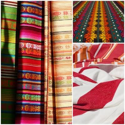 Decoración hogar con telas coloridas