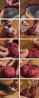 Kumaşlardan Tatlı Kabak Yapımı